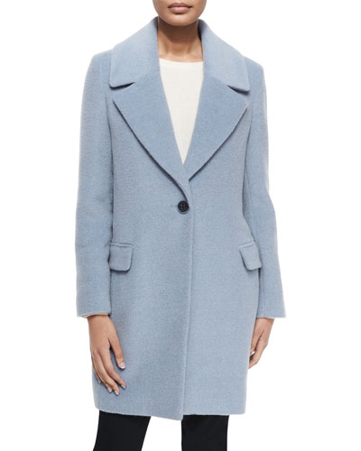Wool-Blend One-Button Coat