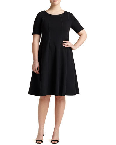 Bev Short-Sleeve Dress, Plus Size
