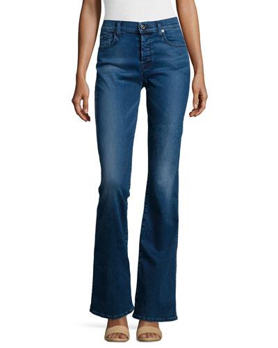 High-Waist Vintage Boot-Cut Jeans, Pure Medium Blue