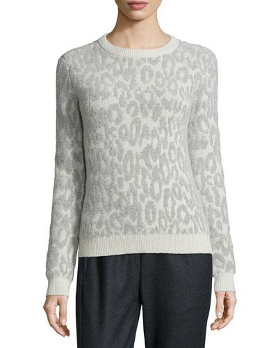 Salomay Leopard-Print Knit Sweater