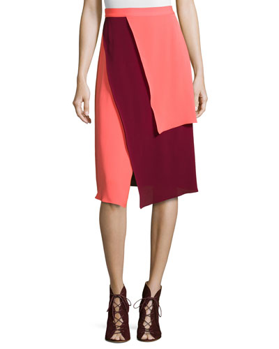Tiered Two-Tone Skirt