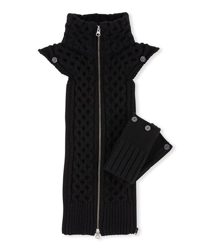 Upstate Knit Dickey w/ Cuffs, Black