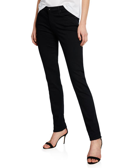 AG Adriano Goldschmied Prima Mid-Rise Skinny Jeans, Super Black
