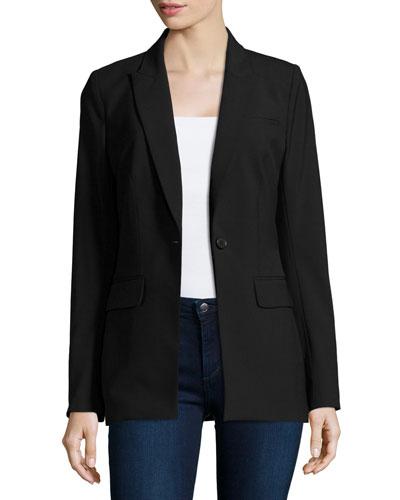 Long & Lean Blazer Jacket, Black