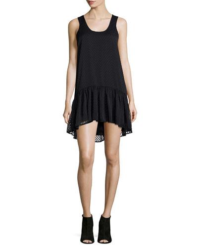 Gwen Sleeveless Babydoll Dress, Black