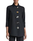 Caroline Rose Plus Size Stretch-Gabardine Travel Jacket