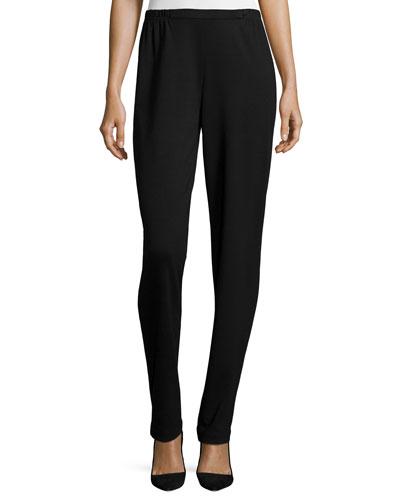 Ponte Slim Pants, Black, Petite