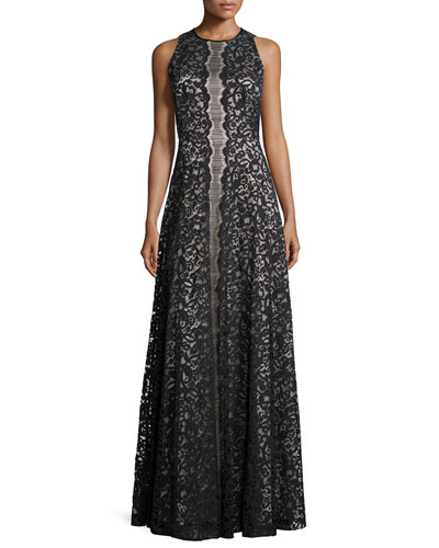 Pamela Sleeveless Lace Gown