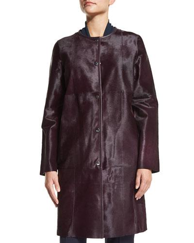 Della Calf Hair Coat