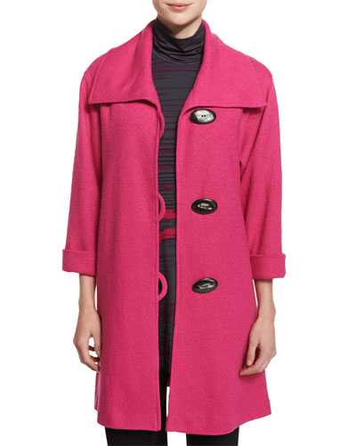 Paris Plush Easy Coat, Pink, Plus Size