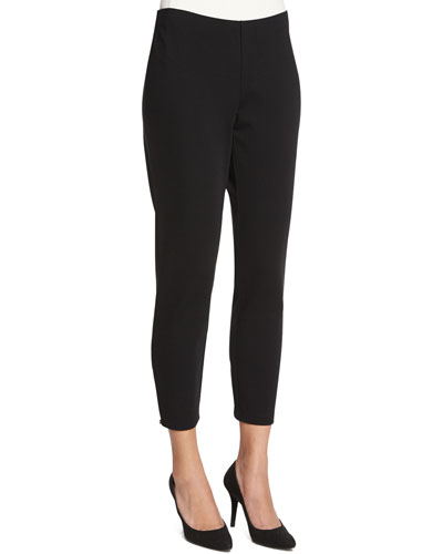 Heavyweight Slim Ankle Pants, Plus Size