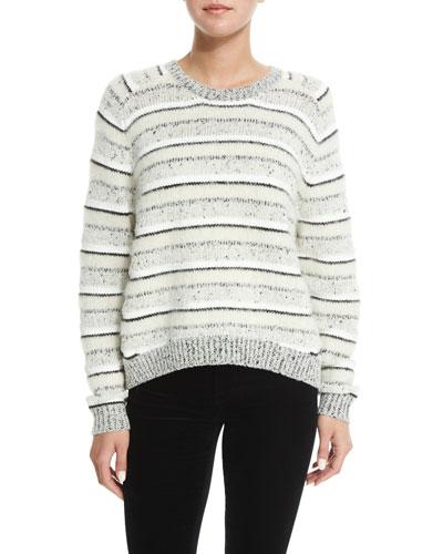 Ramona Striped Long-Sleeve Sweater, Multi Colors