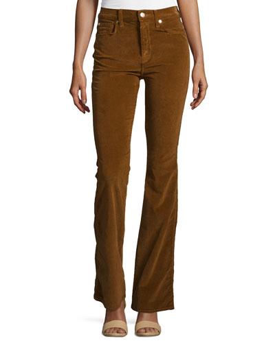 Fashion Flare High-Waist Pants, Cognac