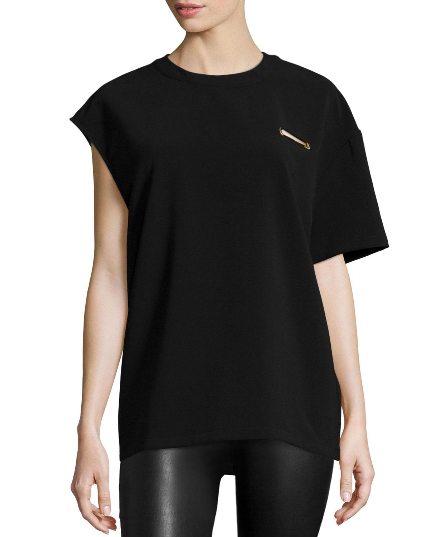 Berkeley One-Sleeve Top, Black
