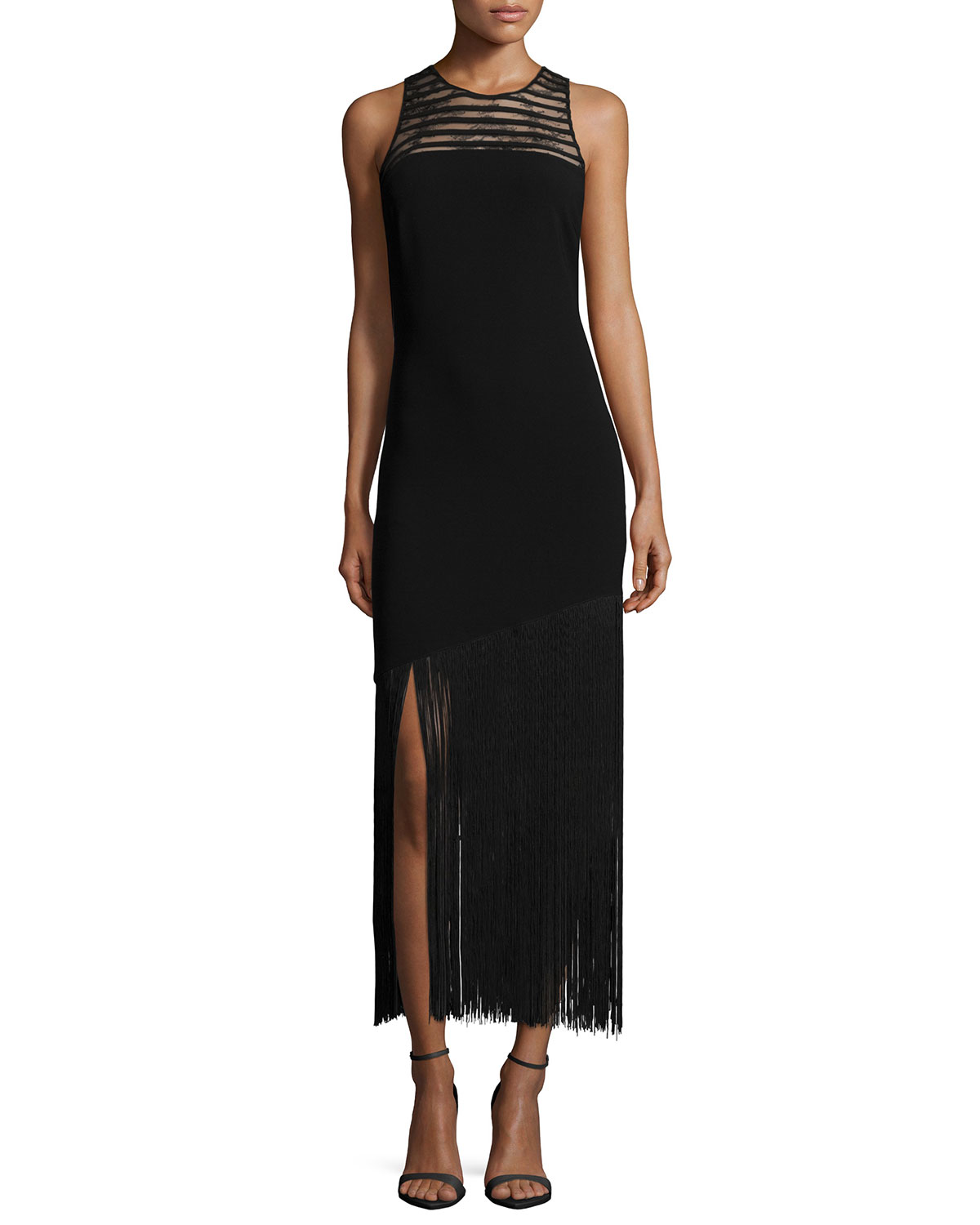 Diane Sleeveless Fringe Hem Dress