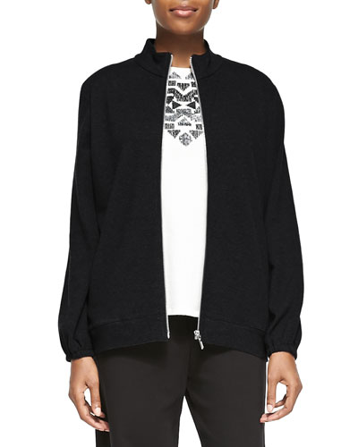 Mock-Neck Zip-Front Jacket, Plus Size