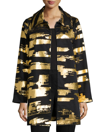 Golden Glow Long Drama Jacket, Petite