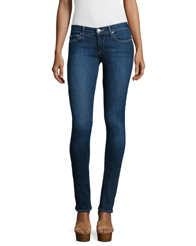 Stella Low-Rise Skinny Jeans, Inky Blue