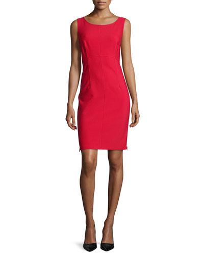 Sleeveless Sheath Dress W/ Side Zips
