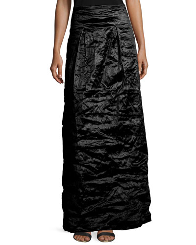 Techno Metal Long Skirt