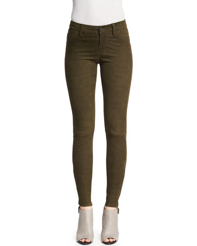 Suede Super-Skinny Pants, Camo