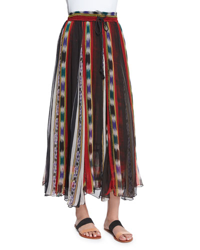 Tiyi Striped Maxi Skirt, Stripes Print