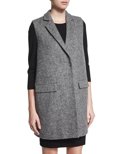 Sleeveless Tweed Jacket
