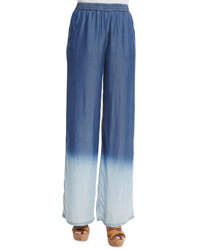 Daybreak Ombre Wide-Leg Pants, Petite