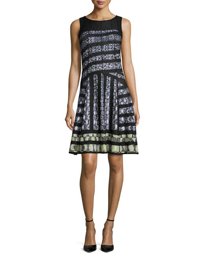 Crosswalk Twirl Fit-and-Flare Dress