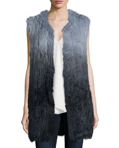 Fadri Blithe Ombre Rabbit Fur Vest