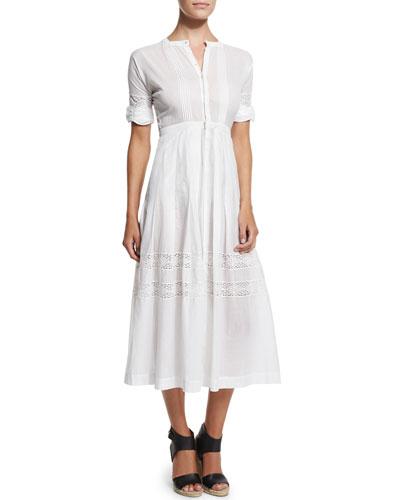 Eden Crocheted Cotton Short-Sleeve Dress