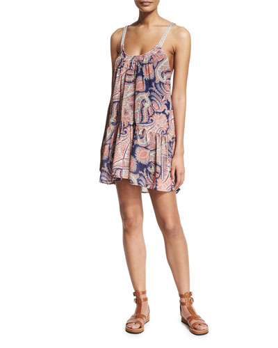 Kasbah Paisley-Print Dress