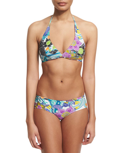 Floral-Print Two-Piece Bikini Set