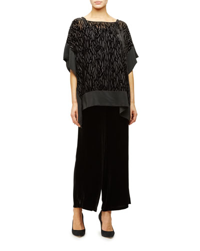 Burnout Velvet Poncho/Tunic