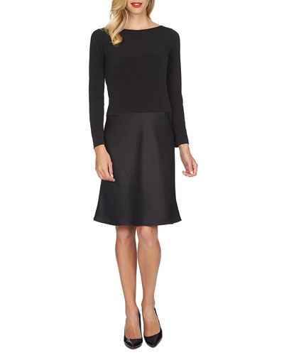 Charlotte Long-Sleeve Combo Dress