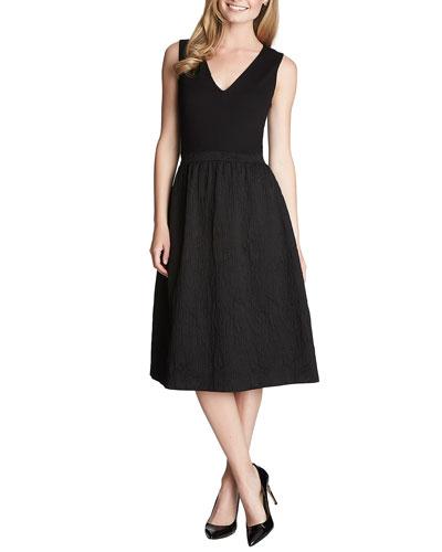 Lauren Sleeveless Fit & Flare Midi Dress