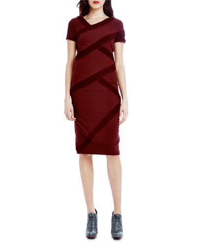 Marielle Short-Sleeve Sheath Dress