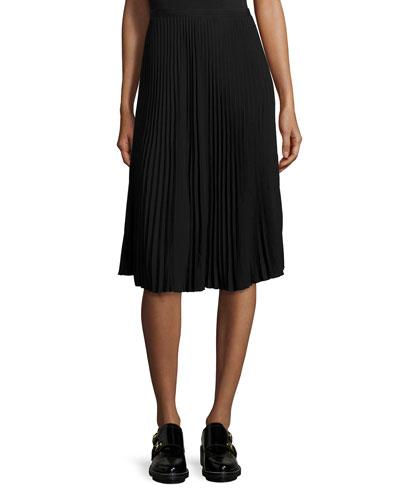 Maxine Pleated Skirt, Black