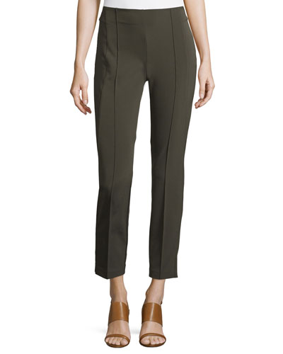 City Slim Pintucked Pants, Plus Size