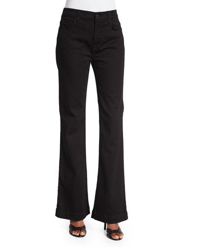 Flare-Leg Jeans, Black