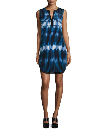 Tie-Dye Print Double-Layer Dress
