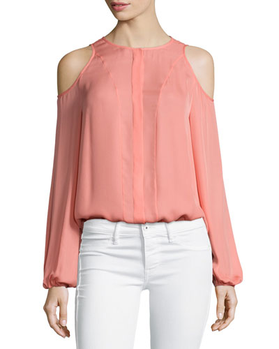 Cold-Shoulder Blouse, Sunset