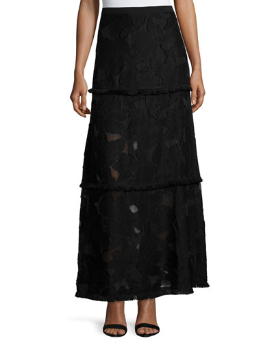 Tayla Floral Fil Coupe Maxi Skirt