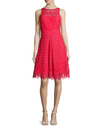 Sleeveless Lace Cocktail Dress, Poppy