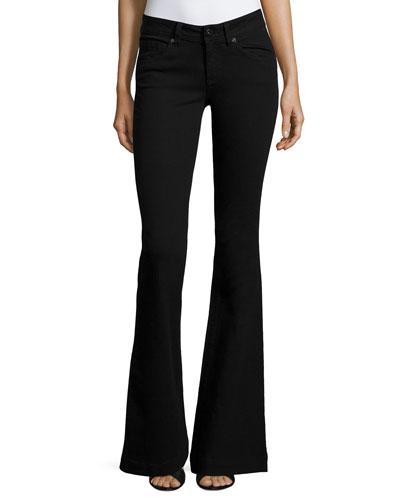 Joy Flare-Leg Jeans, Hail (Black)