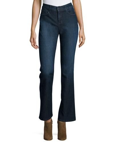 Billie Mini Boot-Cut Jeans, Burbank Wash
