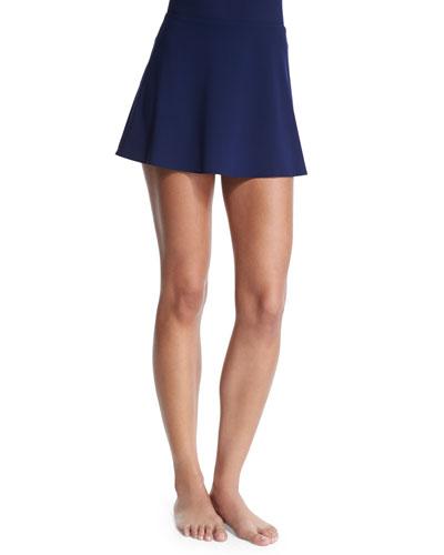 Flared Swim Skirt, Navy