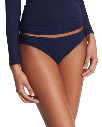 Basic Hip Swim Bottoms, Navy