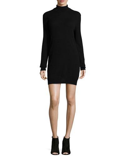 Oscar Long-Sleeve Cashmere Turtleneck Dress