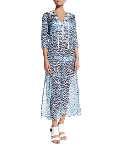 Embroidered Caftan Coverup